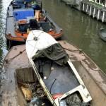 Gezonken boot gelicht waternet5